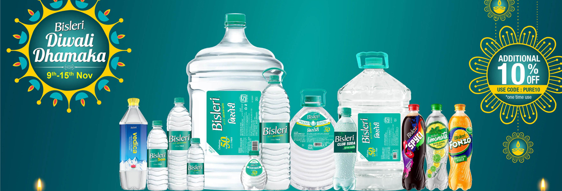 Bisleri Coupons - Enjoy Benefits of Mineral Water at Affordable Prices